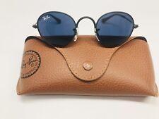New Ray Ban Jr KIDS RJ9537S 201/80 Black Sunglasses w/Blue Lenses 40mm w/Case