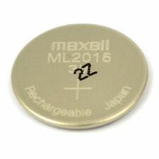 New 3V Maxell ML2016 Rechargeable Coin Cell Battery 3V Japan CMOS RTC Battery