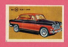 Fiat 1900 Vintage 1950s Car Collector Card from Sweden