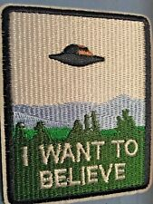 """I Want To Believe Embroidered Iron/Sew ON Patch 3.75"""" x 3"""" Fox Mulder X-Files"""