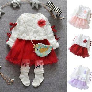 Autumn Toddler Baby Kids Girls Lace Tutu Princess Dress Party Dresses Clothes