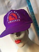 Vintage '80s Virginia Beach VA Snapback Hat Ball Cap One Size Adjustable New