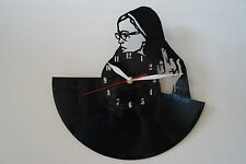 Sister with finger ? design vinyl record wall clock [ black gloss sticker ] home