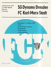 OL 87/88 FC Karl-Marx-Stadt - SG Dynamo Dresden