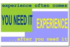 Experience - Classroom Motivational School   NEW POSTER