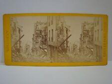 Antike Stereofoto 19.Jhd St.Cloud Rue Royale Belagerung von Paris 1871