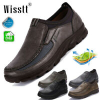 Men's Leather Casual Loafers Work Shoes Business Nonslip Dress Driving Moccasins