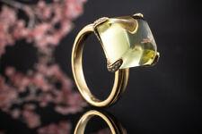 Schmuck Designer Ring mit leuchtenden Lemon Citrin & Brillanten in Gold LP 3.250