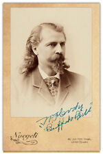 "WILLIAM F. ""BUFFALO BILL"" CODY Old West Legend Vintage Photo Cabinet Card RP"