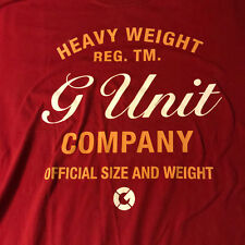 G-Unit Clothing 50 Cent Men's 2XL T Shirt Heavy Weight in Red, VGU w/ no issues
