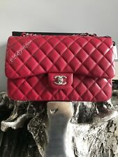 22ee5d9ab80985 NWT CHANEL 18B DARK PINK CAVIAR JUMBO Classic Double Flap 2018 NEW 17B RED  2017