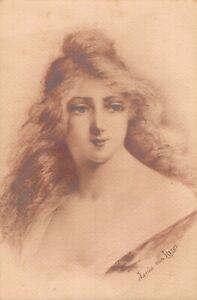 Louis Van Paris Jugendstil Lady Vintage Postcard 06.32