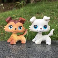 Littlest Pet Shop 2452 #NO Cream Collie Dog Birthday Gift Puppy Kid LPS Toy