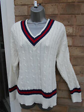 INTERNACIONALE ladies womens stripy knitted jumper sweater top size 12/14