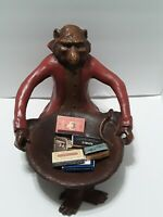 Monkey In A Suit Holding A Bowl of Vintage  Matches