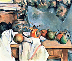 Ginger Pot with Pomegranate and Pears by Paul Cezanne A1+ Art Print Wall Art