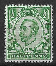 GB KGV 1912 SG338 N4(3) ½d Deep Green (Die B), Imperial Crown. Fine Used