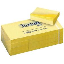 Confezione Post-it Tartan 05138V 12 x 100 fogli Giallo Canarino 38mm x 51mm ripo