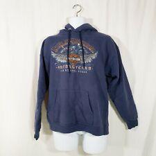 Harley Davidson - Men's Blue M Hoodie Sweatshirt 2011 Bend Oregon Wild Horse