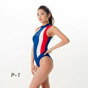 REALISE N-0371 color panel one-piece swim suit (W calendering) (P1, LL) Japan