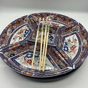 Chinese Lazy Susan Serving Dishes Vintage Turntable Base (#H1/07)