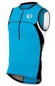 Pearl Izumi Mens Elite In-R-Cool Tri Triathlon Singlet Vest Small Blue Bike