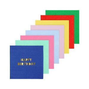 Meri Meri Happy Birthday Small Napkins Party Accessory Birthday Event