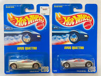 1993 Hotwheels Audi Avus Quattro 208 Silver Lot Of 2 Variant! Mint! Very Rare!