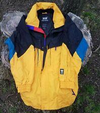 Vintage HH Helly Hansen Hood Skiing Snowboarding Windbreaker Jacket Coat Small