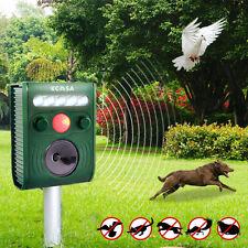 KCASA Garden Ultrasonic PIR Sensor Solar Animal Repeller Flash Light Bird Repel