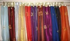 Embroidered Unlined Panel Window Curtains