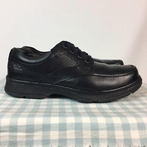 Men's Clarks Star Stride Active Air Black Leather Derby Shoes UK 8 H Wider Fit