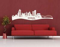 Memphis City Skyline - Highest Quality Wall Decal Sticker