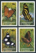 Dominica 768-771,772,MNH.Michel 782-786 Bl.76. Butterflies:Godman's leaf,Zebra,