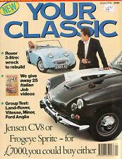 Your Classic Jan 1990 Frogeye Sprite Jensen CV8