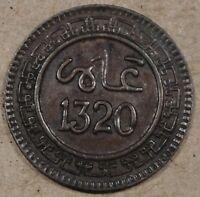 Morocco 1320(1902) 2 Mazunas Better Circulated Grade Coin