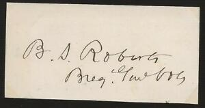 Civil War autograph General Benjamin S Roberts Commander Valverde New Mexico