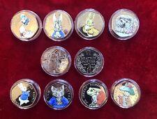 More details for beatrix potter 50p coin set coloured 2016/2017 free paddington 50p coin