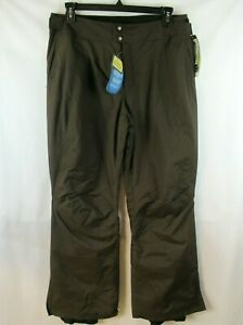 Columbia LILLY SNOW GLIMMER Pant Insulated Waterproof NEW Brown Womens LARGE