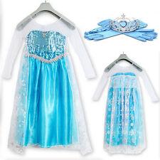 La Reine des Neiges Disney Elsa Fête Cosplay Vêtement Bleu Déguisement Gants