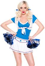 Music legs blue cheerleader football skirt costume