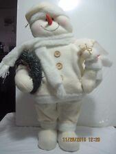"Stand Snowman Snowmen Xmas Christmas with Wreath 24"""