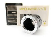 Minolta Extension Tube II SLR Cameras Near mint from japan #054