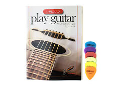 Beginner's Instructional Guitar  Pocket Book from Andy Read + 6 Free Plectrums