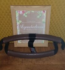 Bugaboo BUFFALO faux leather handle bar & bumper covers Brown Quilted