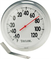 AcuRite 00346A2 Easy To Read Thermometer, White