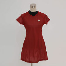 Star Trek Into Darkness Star Fleet Uhura Costume Red Dress Cosplay *Tailored*