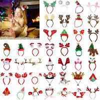 Christmas Headband Santa Claus Party Decor Xmas Hair Band Clasp Head Hoop LOT