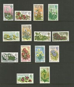 Falkland Islands 1968 Flowers Full Very Light Mounted Mint Set SG 232/45