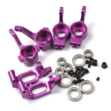 Purple HSP Upgrade Parts Front/Rear Hub Carrier Steering For RC 1/10 Model Car